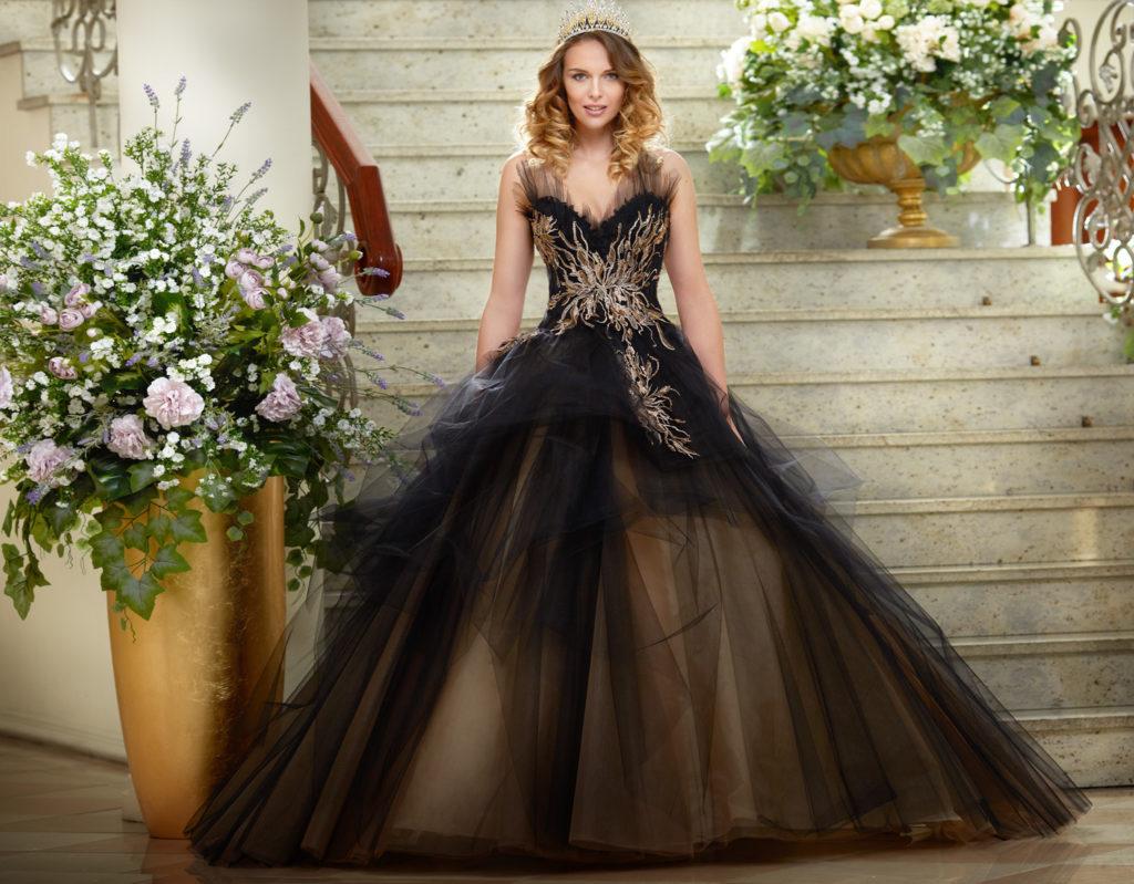 Czarno-złota suknia wieczorowa princessa Agora Celebration